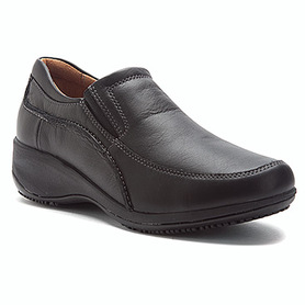 Nexus Non-Slip Sole Versatile style, wonderful comfort and safety unite in  the SKECHERS Work: Nexus shoe. Smooth leather upper in a slip on low wedge  heeled ...